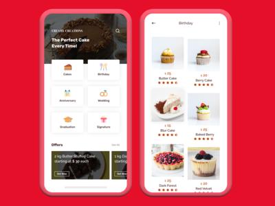 Cakes Ordering App