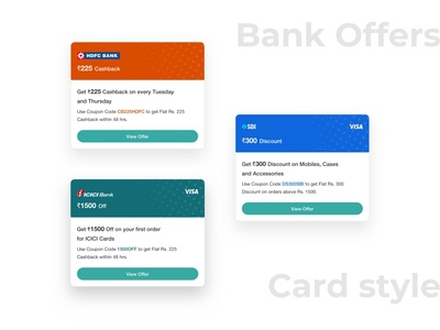 Bank Offers Card Style