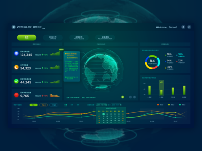 Big data screen design/数据大屏-全球企业数据系统