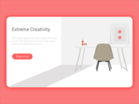 the web page with a clean illustration in a white background