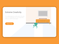 The web page with a clean illustration in a white background - 4