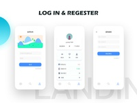 Log in & regester page of card reading app