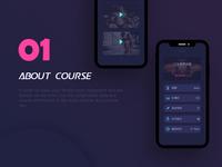 A Diablo Sports Fitness App Interface Design-about course