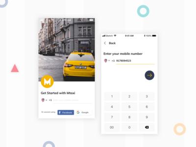 Mobile App Login UI