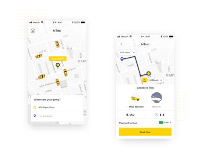 Taxi App Booking Concept