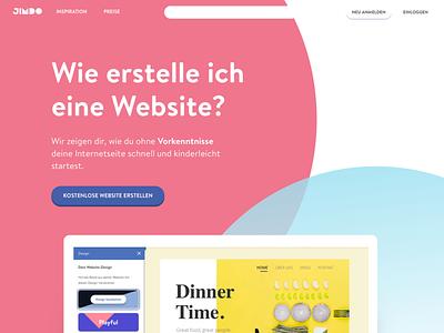Jimdo Landing Page graphic design landing page design web design
