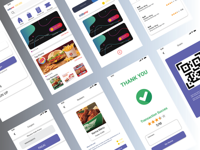 Merchant apps for redeem point code qr success card promo discount voucher interfaces points product redeem mobile ios android apps ux ui free design app