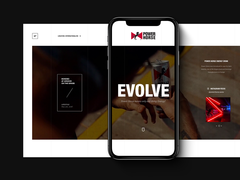 Power Horse Website html5 landing page product drink landing inspiration
