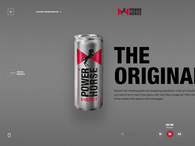 Power Horse Products cgi 3d drink product html5 inspiration