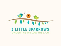 3 Little Sparrows under the Willow tree. CO