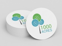 1000 Acres Logo Design logo design branding vector logo design illustration brand and identity
