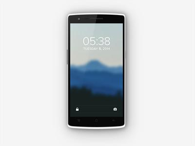 Minimalistic Android Lockscreen