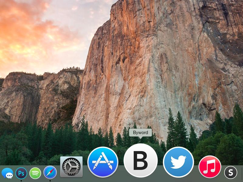 Byword Yosemite Icon byword icon yosemite mac osx app simple clean freebie minimal