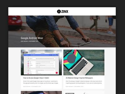 Design for thezinx.com blog design web design zinx