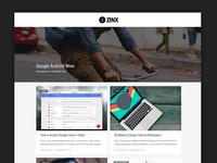 Design for thezinx.com