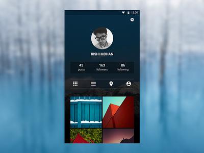 Instagram Profile Page instagram dark blue app design profile