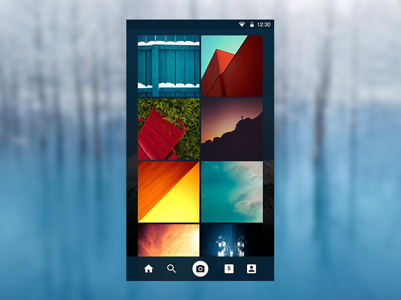 Instagram Profile Feed instagram blue dark app design ui