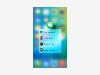 3d Touch Popup in iPhone 6s/6s Plus iphone 6s plus iphone 6s concept ios 9 popup 3d touch