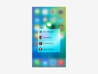 3d Touch Popup in iPhone 6s/6s Plus