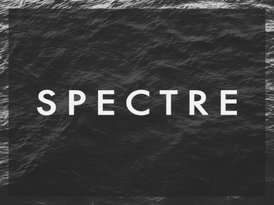 Spectre white grey black dark typography spectre