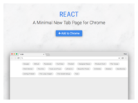 React New Tab Chrome Extension