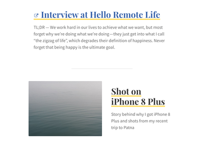 Blog Redesign white clean blog font sans serif typography