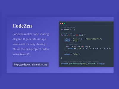 Introducing CodeZen white black minimal web app material themes syntax code