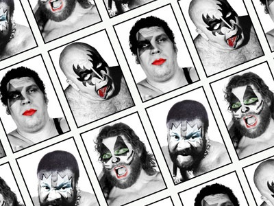 Kiss WWF spoof kiss 70s rock wwf wrestling andre the giant