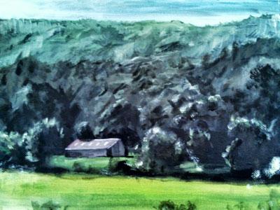 Landscape Attempt landscape nature painting bob ross trees