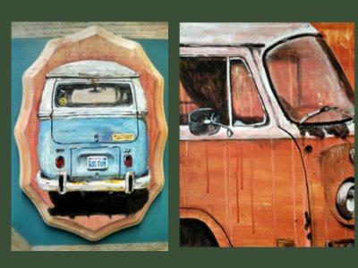 Bus Paintings vwbus volkswagen microbus bay window bus