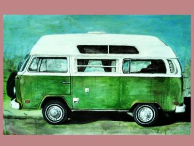 Greenbus vwbus volkswagen microbus bay window bus