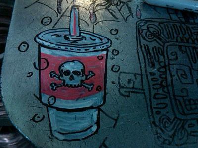 cup holder megadeth gulp soda big gulp straw skull