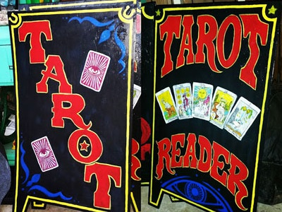 Hand Painted Sign card tarot lettering painted sign
