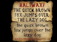 Haliwax font