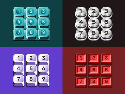 Figma Keypads vector ui design keypads ui button figma design figma illustration