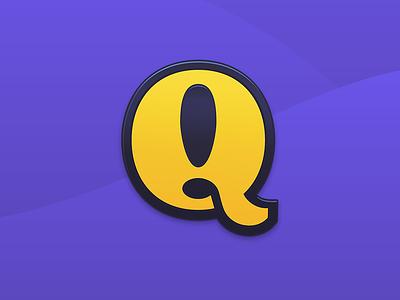 Q is for Quests branding identity logo mac app brand vector badge