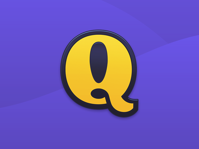 Q is for Quests branding identity logo mac app brand vector badge