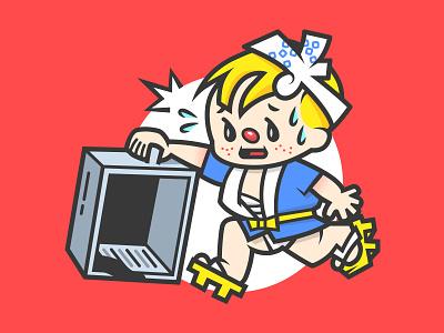 Nissin Ramen Boy 出前一丁 parody mascot funny illustration art director design illustration he done fucked up boy ramen nissin