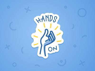 Sticker for Designathon: Hands-on! design process illustration goodpatch designathon hands-on sticker
