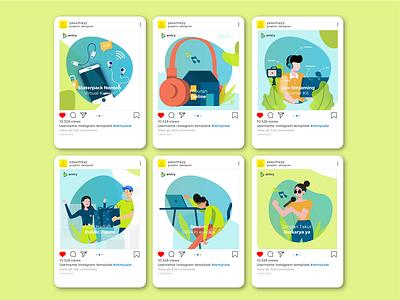 Social Media Layout social media design vector illustration
