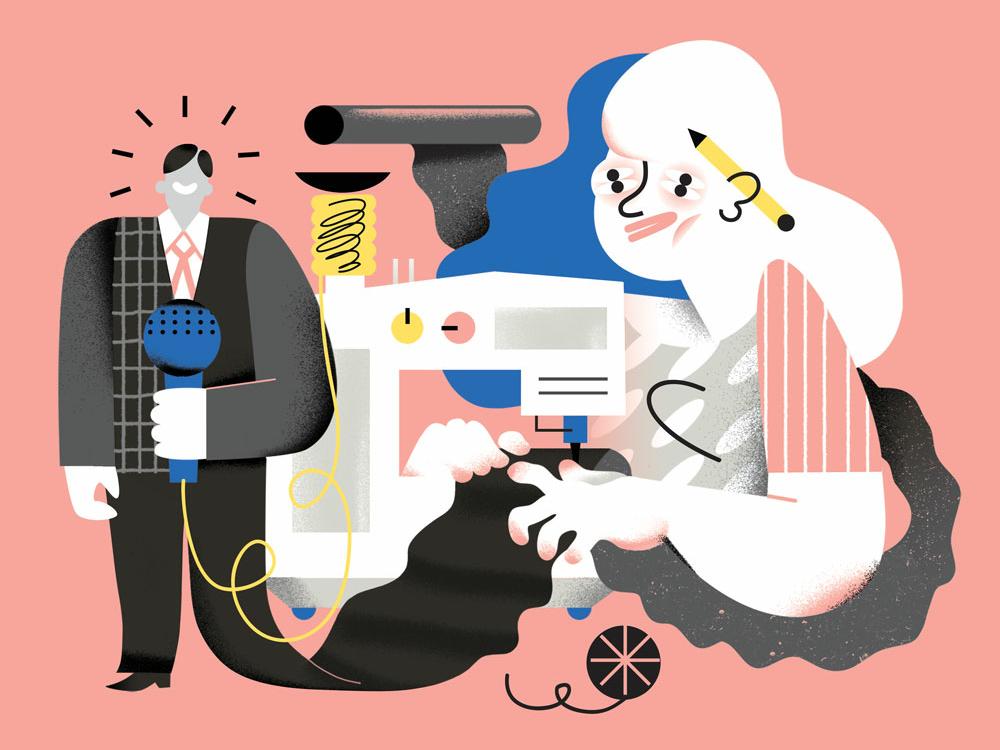 Women in Media feminism women media vector editorial illustration illustration