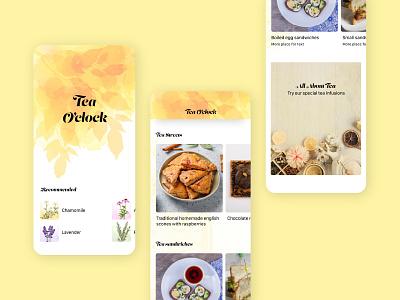 Tea Shop App visual design mobile teashop ui product design app