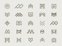 "Logo Explorations ""M"""