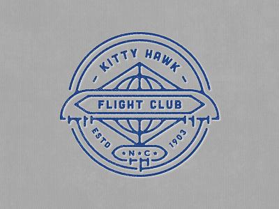Kitty Hawk Flight Club Badge glider first flight wright brothers north carolina nc badge club flight kitty hawk