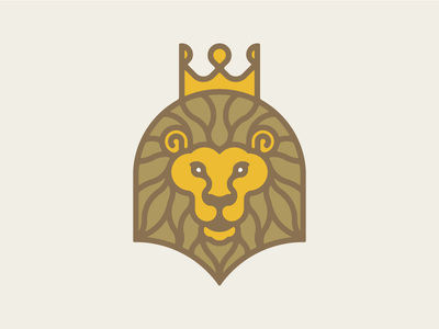 King of the Jungle gold royal logo icon animal crown jungle king lion