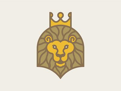 King of the Jungle gold royal logo icon animal crown jungle king lion