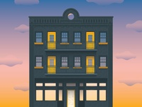 Airtype East Building Illustration