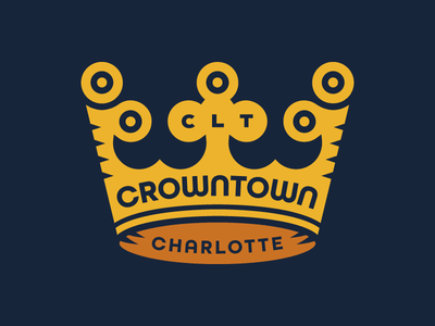 Crowntown logo north carolina queen city crown crowntown charlotte