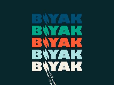 Biyak design typography branding identity web  design sporting goods outdoors boating boat decal logo design brand identity