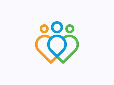 Providence Heart Center providence oregon hospital center heart icons. simple logomark logo design concept color pallete logo design branding logo design
